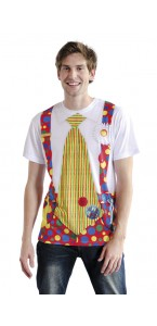T-shirt photoréaliste Clown taille L