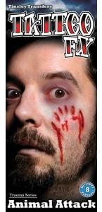 Tatouage attaque animale Halloween