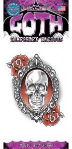 Tatouage crânes et roses Halloween