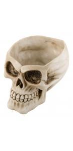 Tête de mort résine Halloween 12,5 x15,8 x 10 cm