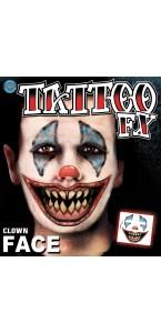 Tatouage clown temporaire Halloween