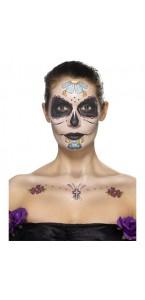 Tatouage Jour des Morts temporaire Halloween