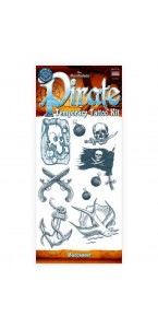 Tatouage pirate temporaire Halloween