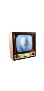 Télévision Horreur effet 3 D Halloween 36 x17 x 37 cm