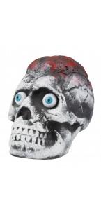 Tête de mort avec yeux exorbités Halloween 20 x 14 cm