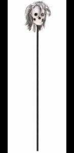 Tête de mort sur bâton 120 cm
