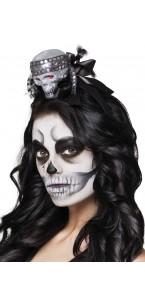 Tiare tête de mort pailletée Halloween
