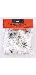 Toile d'araignée 57 g avec 4 araignées Halloween