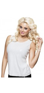 Top sequins blancs Taille M