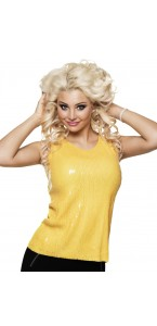 Top sequins jaune Taille M