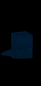 Urne blanche avec dentelle 24 x 24 x 24 cm
