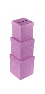 Urne pailletée rose moyen modèle