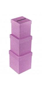 Urne pailletée rose petit modèle