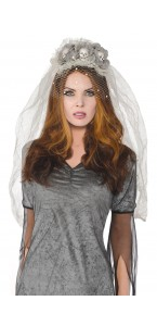 Voile de mariée fantôme Halloween