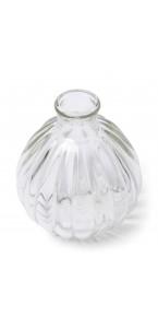 Vase boule rétro en verre 8,5 x 9,5 cm