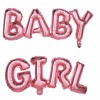 Ballons lettres Baby Girl Mylar 118 cm x 24 cm