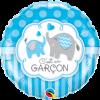 """Ballon Bleu Eléphant """" C'est un garçon"""" 45 cm"""