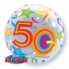 Ballon Bubble 50 ans Etoiles 55 cm