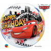 Ballon Bubble Cars Happy Birthday 55 cm
