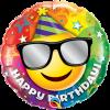 Ballon Happy Birthday Smiley 45 cm
