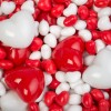 Cœurs plastique rouge et blanc