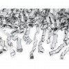 Canon à confettis tourbillon argent 40 cm