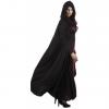 Cape de vampire noire avec capuche Halloween adulte 180 cm