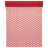 Chemin de table chevron organza rouge 28cm  x 5 m