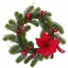 Couronne traditionnelle de Noël baies+pommes de pin D 30 cm