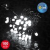 Guirlande 100 leds 8 mm blanches  8 fonctions 10 m