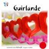 Guirlande 2 cœurs rouges 4 m