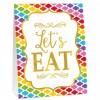 Kit de 12 décorations de buffet à motifs multicolores