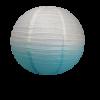 Lanterne bleu dégradé en papier 35 cm