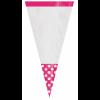 Lot de 10 sachets de Cones Polka rose