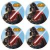 Lot de 12 mini disques déco azyme Star Wars 4,5 cm