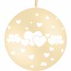 Lot de 2 Ballons Cœurs entrelacés Or 90 cm