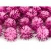 Lot de 20 boules pompon Oursin rose 2 cm