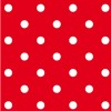 Lot de 20 serviettes intissé rouge à pois 25 x 25 cm