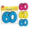 Lot de 3 stickers 60 ans