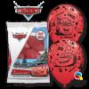Lot de 6 ballons Cars en latex rouge 30 cm