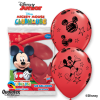 Lot de 6 ballons Mickey en latex rouge 30 cm