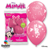 Lot de 6 ballons Minnie en latex rose 30 cm