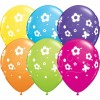 Lot de 6 ballons Papillons/Fleurs tropicales en latex multicolore 27,5 cm
