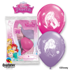 Lot de 6 ballons Princesses en latex 30 cm