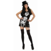 Robe Skeleton paillettes Halloween