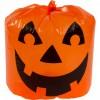 Sac polyester impression citrouille Halloween 30 x 25 cm