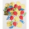Sachet de Confettis de table Ballon, Serpentin, gâteau métallique 14 gr