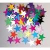 Sachet de Confettis de table Etoile Jumbo multicolore métallique 14 gr