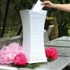 Urne allongée blanche en papier 24 x 24 x 60 cm