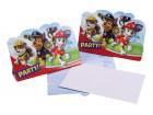 Lot de 8 invitations anniversaire Pat Patrouille